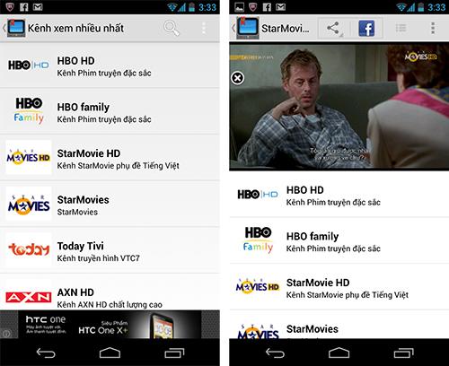Ứng Dụng Xem Tivi Trực Tuyến cho Android