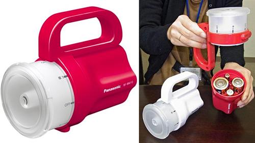 Panasonic ra mắt đèn pin cầm tay có thể dùng với hầu hết những loại pin phổ biến