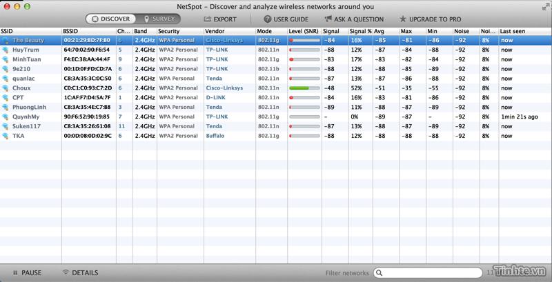 Đánh giá NetSpot trên OS X - ứng dụng phân tích và khảo sát mạng Wi-Fi dễ dùng 914833