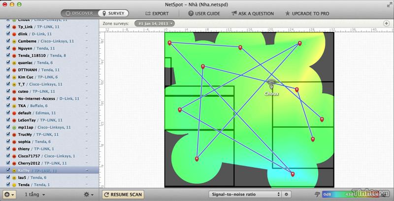 Đánh giá NetSpot trên OS X - ứng dụng phân tích và khảo sát mạng Wi-Fi dễ dùng 914834