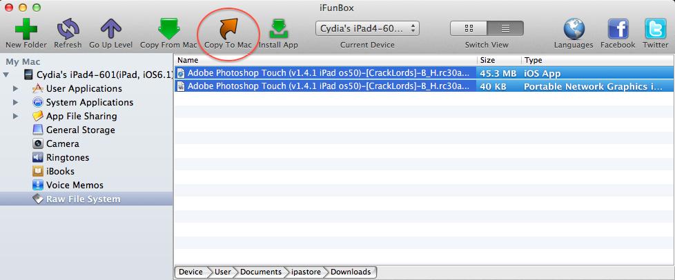 iFunBox ipa files.