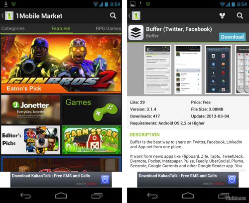 Một số kho ứng dụng không chính thức dành cho Android