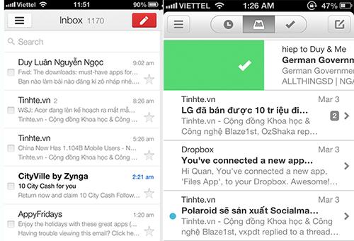 Mailbox và Gmail