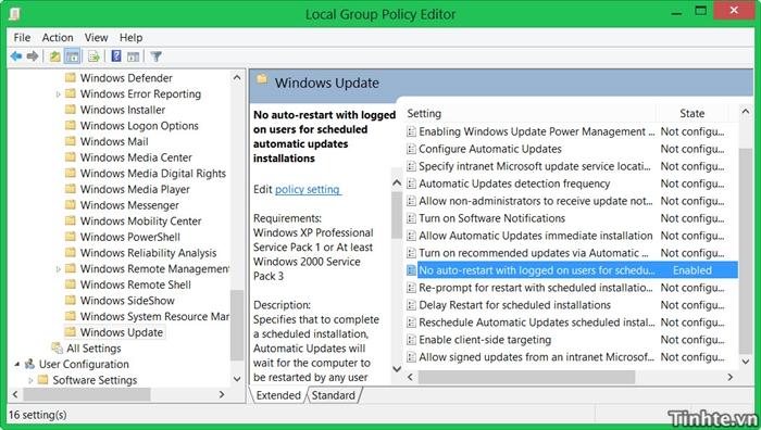 Tắt chức năng tự khởi động lại máy sau khi chạy Windows Update Win8-4-jpg