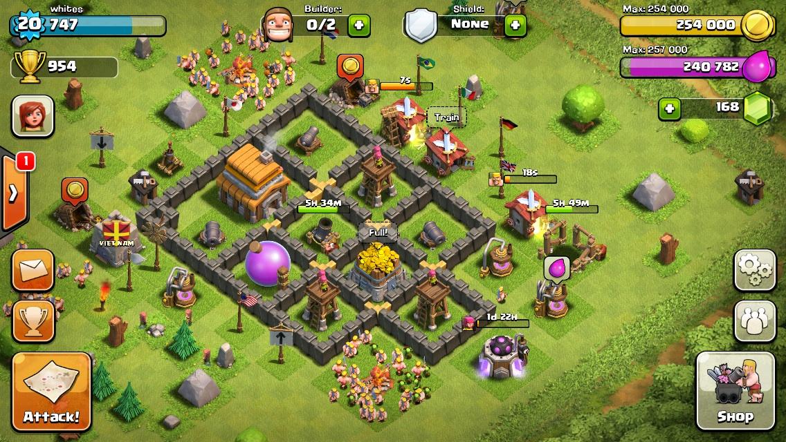 DÀN TRẬN - Nhờ tư vấn xây nhà trong clash of clan | Tinhte.