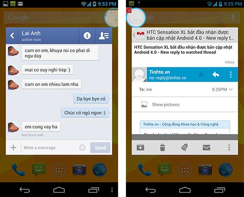 Đã có bản ROM Paranoid Android alpha đa nhiệm giống Facebook Chat Heads