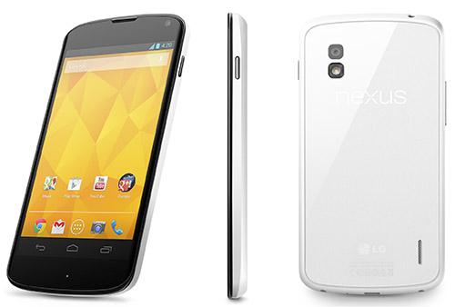 LG chính thức ra mắt Nexus 4 phiên bản màu trắng