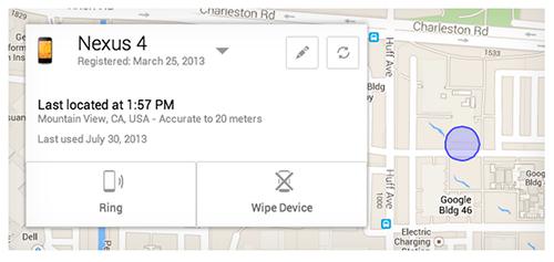 Công nghệ - Google Android Device Manager - công cụ truy tìm thiết bị Android thất lạc