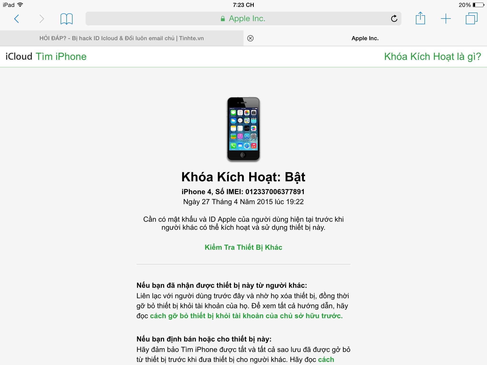 Bị Hack Id Icloud đổi Luon Email Chủ Tinh Tế