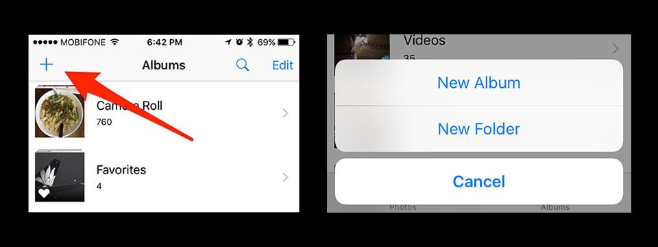 tao thu muc Photos iOS tinhte.jpg