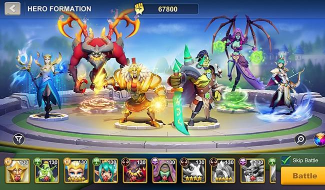 Idle War: Legendary Heroes – game thẻ tướng chiến thuật ra mắt chính thức