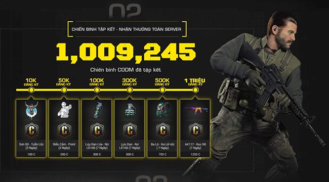Call of Duty: Mobile VN đạt cột mốc 1 triệu người đăng ký trước