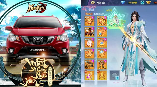 Chưa từng có trong lịch sử làng game Việt: Ngạo Kiếm 3D chơi lớn tặng ô tô Vinfast cho game thủ