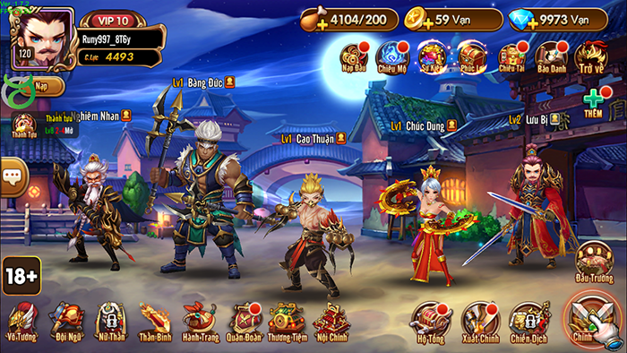 Toàn Dân Tam Quốc mang đến gameplay đấu tướng tuyệt hảo, quen thuộc nhưng không nhàm chán