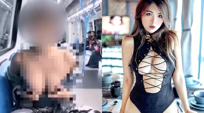 Youtuber trang điểm bị chỉ trích khi tuột áo khoe ngực giữa tàu điện ngầm