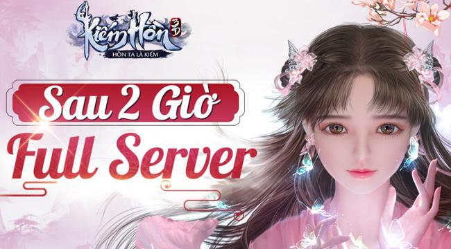 Server Kiếm Hồn 3D đông nghẹt người chỉ sau 2 tiếng mở thử nghiệm