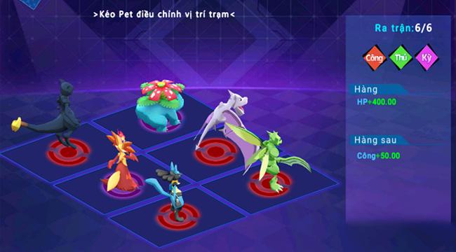 Thần Thú 3D mở ra vô số hướng tùy biến trận hình cho người chơi lựa chọn