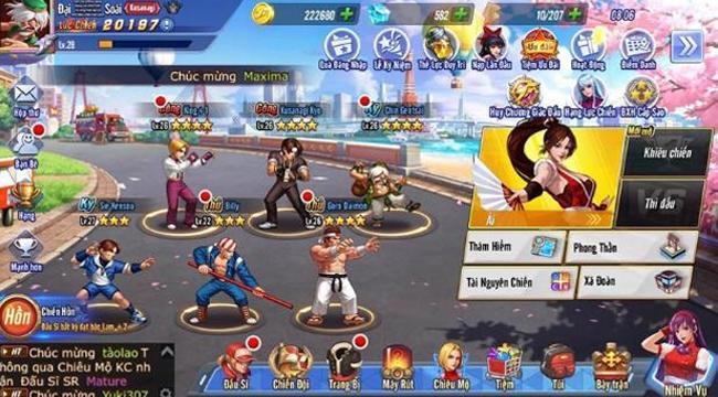 Người chơi chen chúc muốn sập server trong ngày đầu ra mắt KOF AllStar VNG – Quyền Vương Chiến