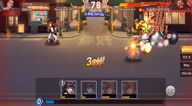 KOF AllStar VNG Quyền Vương Chiến – Phối chiêu đọ sức thoải mái trong tựa game đối kháng này