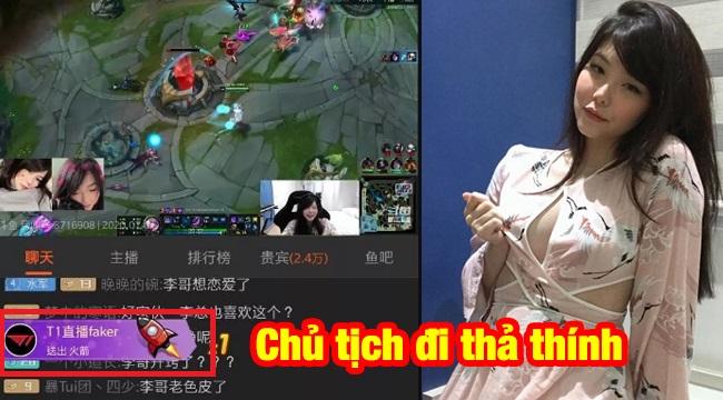 """LMHT: Nữ game thủ xinh đẹp Mayumi bất ngờ được """"Faker"""" donate ngay ngày đầu stream"""