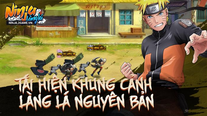 Ninja Làng Lá Mobile tái hiện gần như hoàn chỉnh những khung cảnh quen thuộc từ Naruto