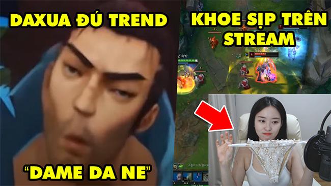 TOP khoảnh khắc điên rồ nhất LMHT #42: Nữ game thủ khoe sịp trên stream, Yasuo đú trend Dame Da Ne