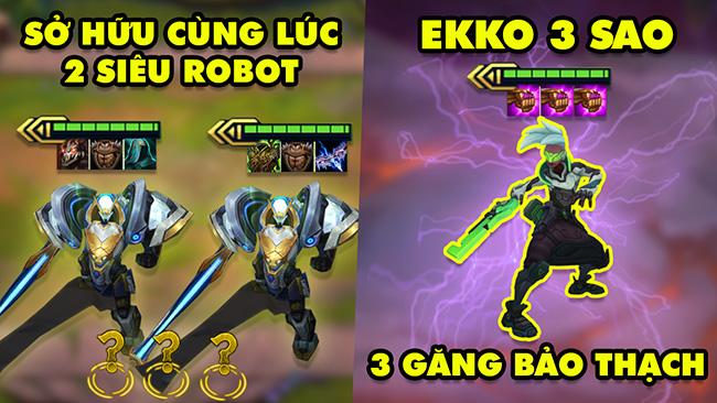 TOP khoảnh khắc điên rồ nhất Đấu Trường Chân Lý #100: 2 Siêu Robot cùng team, Ekko 3 Găng Bảo Thạch