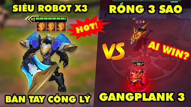 TOP khoảnh khắc điên rồ nhất Đấu Trường Chân Lý #101:Garen X3 Bàn Tay Công Lý, Rồng 3 vs Gangplank 3