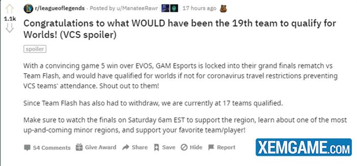 Cộng đồng quốc tế tiếc nuối vì GAM Esports bỏ lỡ CKTG 2020 - Tôi ước được xem Levi đối đầu SofM - Ảnh 2.