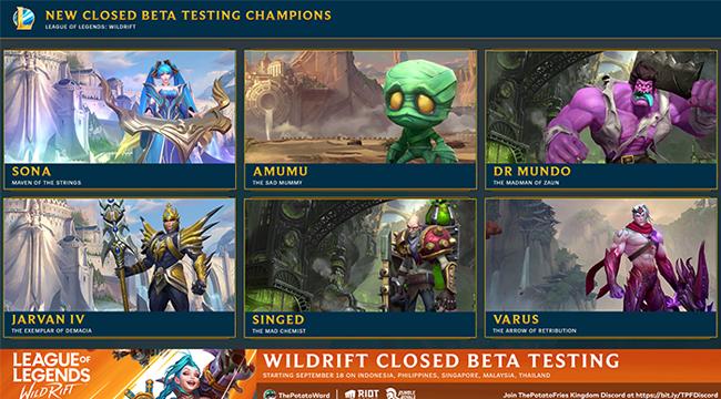 LMHT: Tốc Chiến ra mắt thêm 6 tướng, công bố 5 skin mới  trên bản Closed Beta