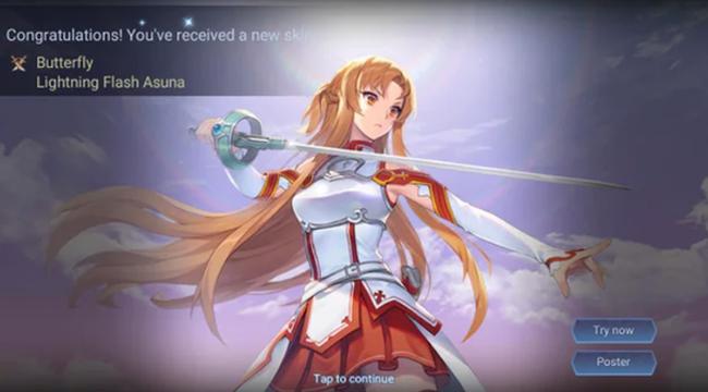 Liên Quân Mobile: Sở hữu Butterfly Asuna Tia Chớp Free chỉ bằng… nhân phẩm và tính toán