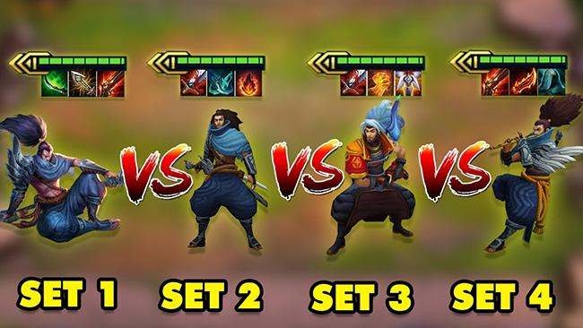 Yasuo Set 1 vs Set 2 vs Set 3 vs Set 4 – Ai mạnh nhất trong lịch sử Đấu Trường Chân Lý?