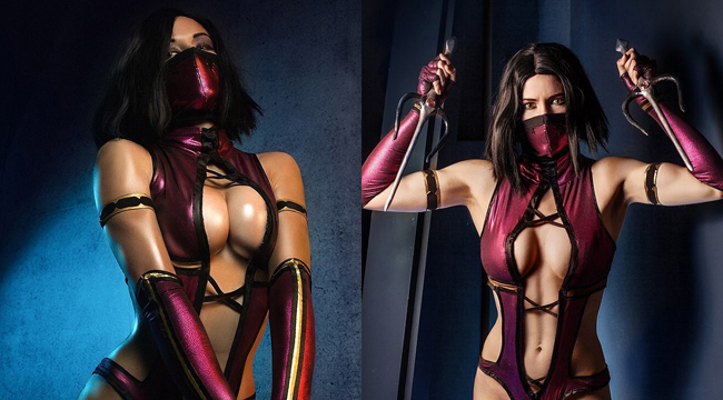 Bỏng mắt với cosplay Mileena đầy nóng bỏng trong Mortal Kombat