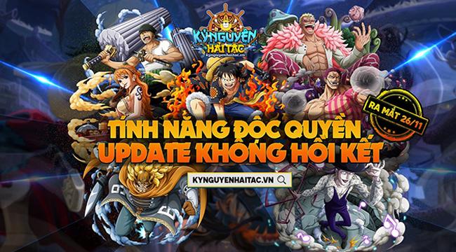 Kỷ Nguyên Hải Tặc – siêu phẩm webgame One Piece chính thức ra mắt 26/11