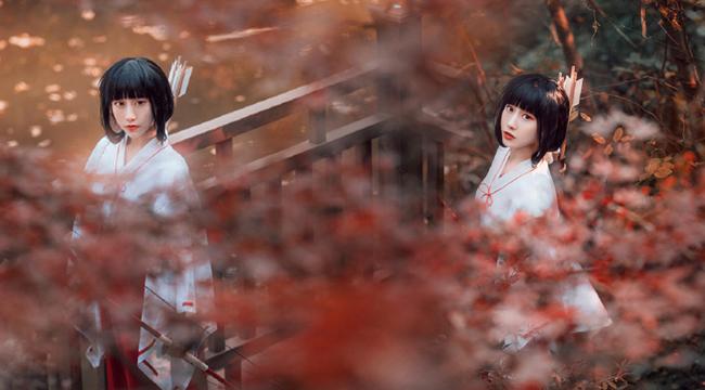 Lạc vào mộng cảnh với cosplay Kikyo – Inuyasha đầy thơ mộng