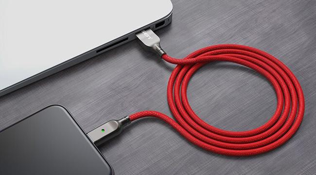 Cáp sạc Pisen Lightning ZINC intelligent Power-off 2000mm – an toàn với cơ chế ngắt điện thông minh