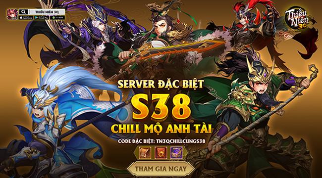 """5/12 – Tròn 01 tháng tuổi, Thiếu Niên 3Q """"chiêu đãi"""" game thủ bằng server đặc biệt S38"""