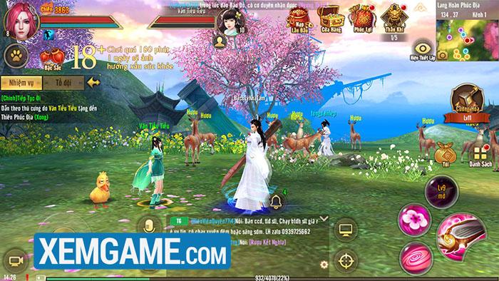 Tân Thiên Long Mobile: Server đặc biệt mừng Đào Hoa Ảnh Lạc lúc nào cũng đông vui như trẩy hội
