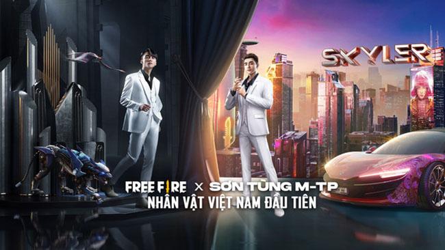 Sơn Tùng -MTP chính thức công bố hợp tác với Free Fire Mobile cho ra mắt nhân vật Skyler