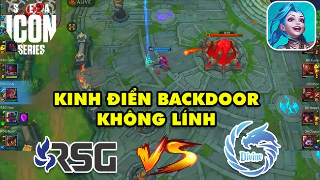 Kinh điển Backdoor không lính lật kèo nghẹt thở giữa RSG vs Divine | Giải đấu Tốc Chiến Icon Series Sea