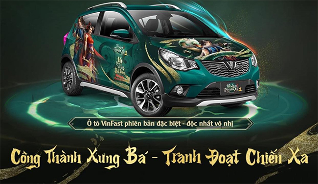 """Võ Lâm Truyền Kỳ 1 Mobile chơi lớn, đua TOP nhận Vinfast """"độc nhất vô nhị"""""""
