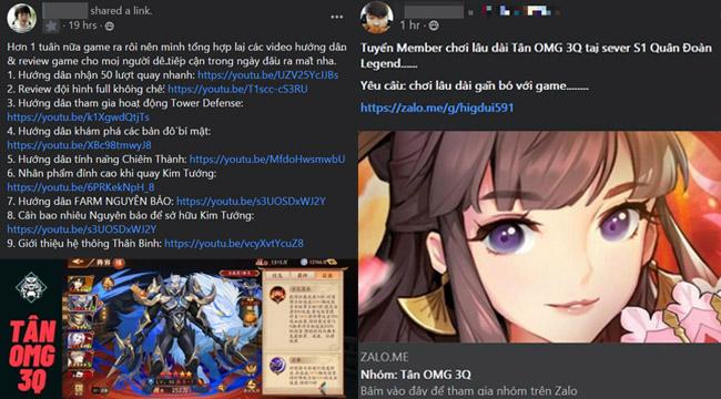 Cộng đồng Tân OMG3Q VNG hưởng ứng nhiệt tình khi game sắp ra mắt